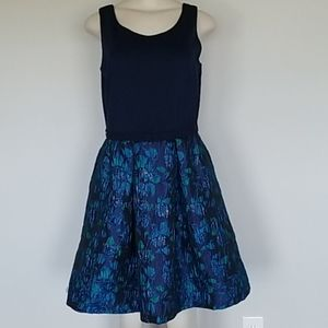 Taylor navy blue floral party dress-8